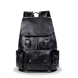 Ericdress Korean Style Soft PU Men's Backpack