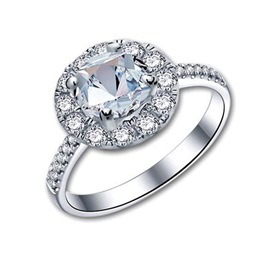 MarkChic S925 Sterling Silver 1CT Women's Engagement Ring