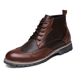 Ericdress Color Block Lace-Up Men's Boots