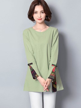 Ericdress Loose Paint Mid-Length T-shirt