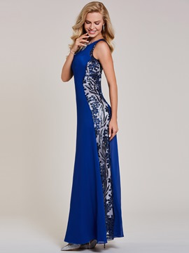Ericdress Sheath Scoop Neck Sequins Evening Dress