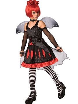 ericdress halloween diable cosplay party costume sans manches habillement costume