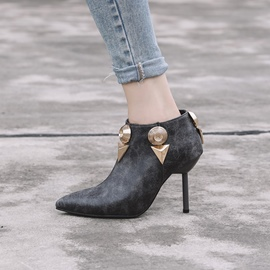 Ericdress Fashion Pointed Toe Plain Stiletto Heel Ankle Boots