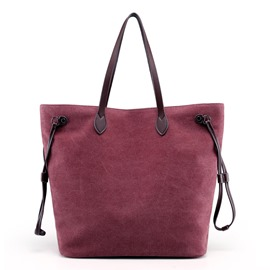 Ericdress Simple Solid Color Canvas Tote Bag