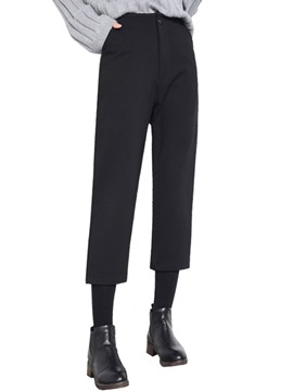 Ericdress High-Waist Loose Thick Ankle-Length Women's Pants