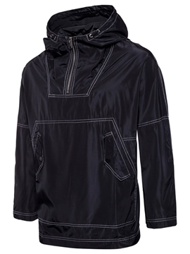 Ericdress Solid Color Hooded Special Print Men's Hoodie