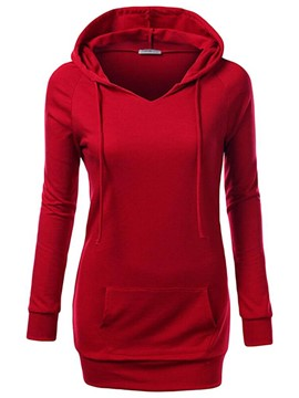 Ericdress Slim Pocket Raglan Sleeve Cool Hoodie