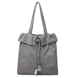 Ericdress Simplicity Solid Color Flannelette Shoulder Bag