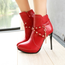 Ericdress Rhinestone Rivet Stiletto Heel Women's Boots