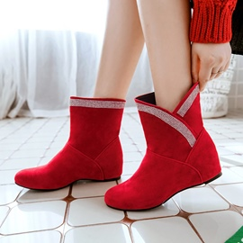 Ericdress Chic Slip-On Hidden Elevator Heel Ankle Boots