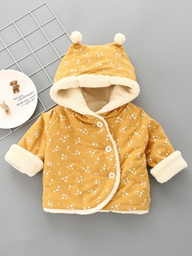 Ericdress Little Star Print Lovely Hooded Thick Baby Girls Coat