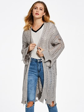 Ericdress Loose Hollow Wrapped Cardigan Women's Sweater
