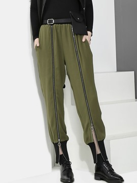 Ericdress Loose High-Waist Zipper Women's Harem Pants