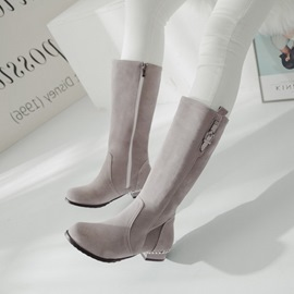 Ericdress Fashion Comfy Buckle Plain Knee High Boots