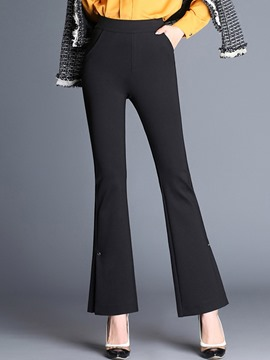 Ericdress High-Waist Slim Bell Bottom Women's Dress Pants