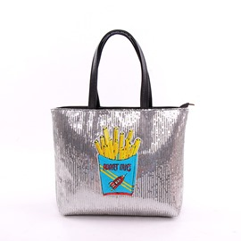 Ericdress Korean Style Sequins Prints Shoulder Bag
