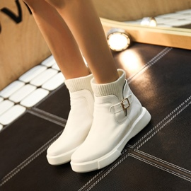Ericdress Buckle Plain Slip-On Ankle Boots
