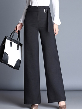 Ericdress High-Waist Wide Leg Loose Women's Elegant Dress Pants