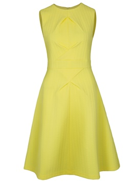 Ericdress Sleeveless Plain Zipper A Line Dress