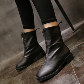 Ericdress Plain Front Zipper Women's Ankle Boots
