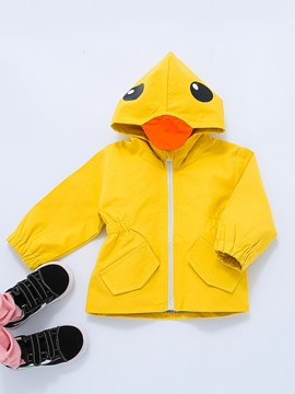 Ericdress Unisex Yellow Duck Hooded Long Sleeve Babys Trench Coat