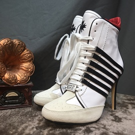 Ericdress New Style Stripe Lace-Up Jordan Heel Boots