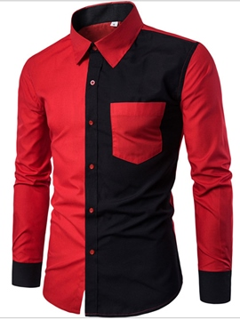 Ericdress Lapel Mens Slim Shirt