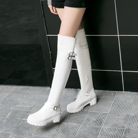 Ericdress Buckle Platform Plain Knee High Boots