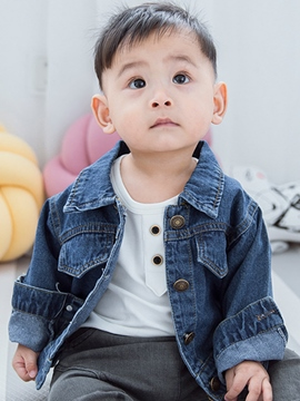 Ericdress Fashion Cartoon Back Print Lapel Baby Boys Outerwear