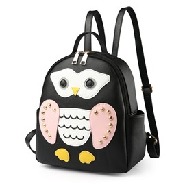Ericdress Korean Style Stripe Cartoon Pattern Female Backpack