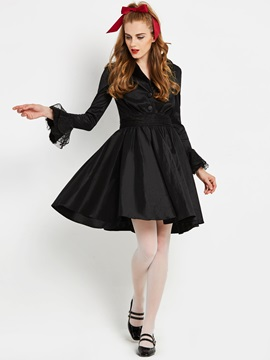 Ericdress Halloween A-Line Long Sleeves Women's Dress