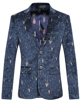 Ericdress Print Color Block Plus Size Casual Men's Blazer