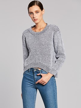Ericdress Loose Plain Swallowtail Knitwear