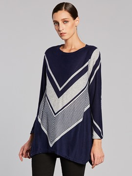 Ericdress Color Block Geometric Pattern T-shirt