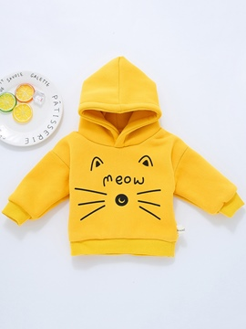 Ericdress Unisex Cat Print Long Sleeve Hooded Babys Coat