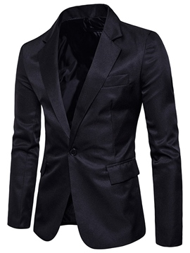 Men's Clothing Plain Notched Lapel Slim Light Blazer