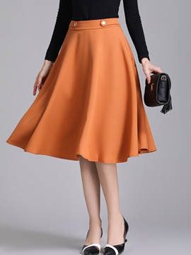Ericdress High-Waist Knee-Length A-Line Women's Winter Skirt