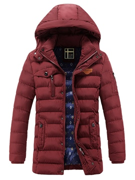 Ericdress Hooded Mid-Length Men's Winter Coat