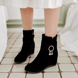 Ericdress Rhinestone Plain Round Toe Ankle Boots