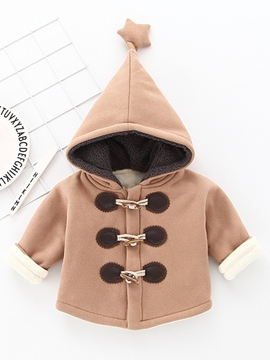Ericdress Thick Lovely Hooded Horn Button Long Sleeve Baby Girls Coat