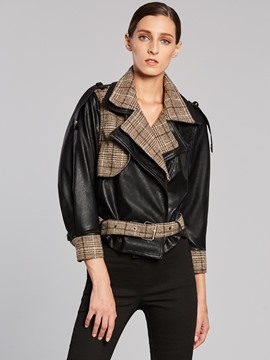 Ericdress Patchwork Bell Epaulet Short Jacket