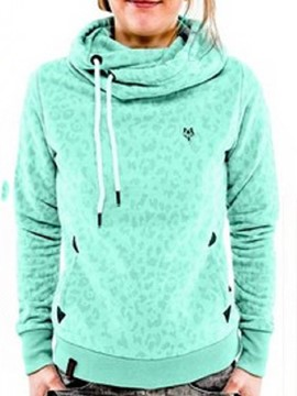 Ericdress Loose Print Turtleneck Cool Hoodie