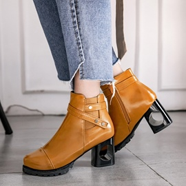 Ericdress Buckle Plain Hollow Heel Women's Ankle Boots