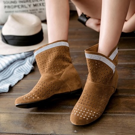Ericdress Hollow Slip-On Plain Ankle Boots