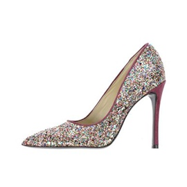 Ericdress Sequin Slip-On Plain Stiletto Heel Pumps