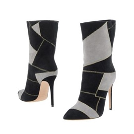 Ericdress Color Block Pointed Toe Women's Stiletto Heel Boots