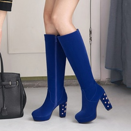 Ericdress Rivet Platform Chunky Heel Knee High Boots