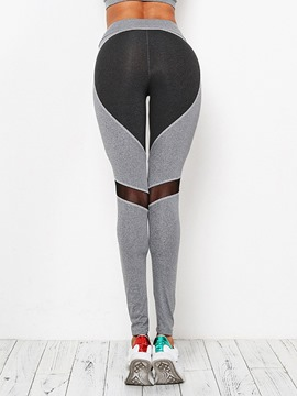 Ericdress Color Block Patchwork Anti-Sweat Full Length Female Leggings