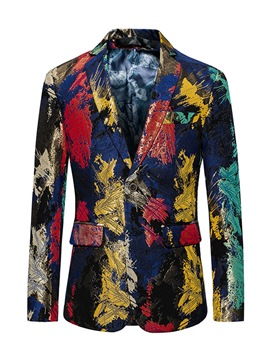 Ericdress Floral Print Vogue Slim Fit Men's Blazer