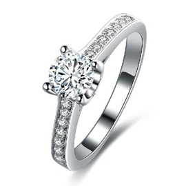 MarkChic High End Sterling Silver Wedding Ring for Women